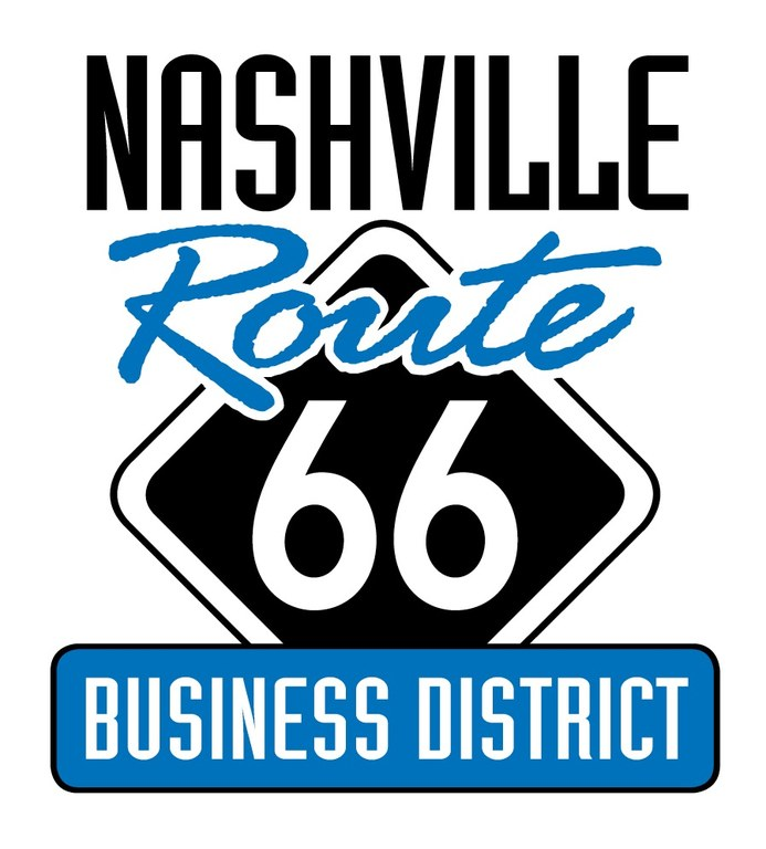 logo for Nashville's Route 66 Business District